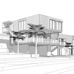 Meka Modular custom design 2440 sq ft. Front elevation